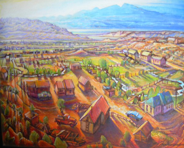 New Mexico Village Painting